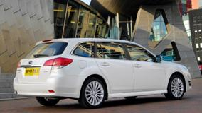 2010 Subaru Legacy Tourer In White Side Pose